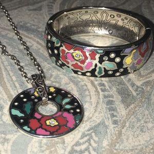 Brighton Necklace and Bangle Bracelet Set